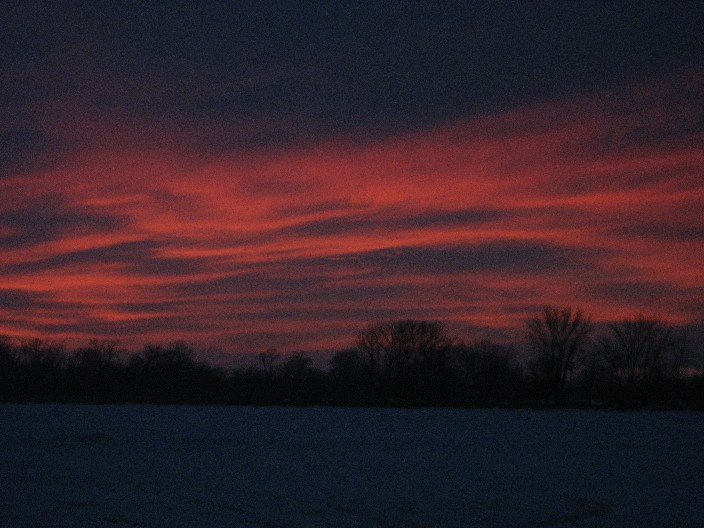Late Season Sunset Over Waconia