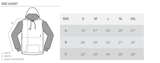 Size Charts — FAN CLOTH