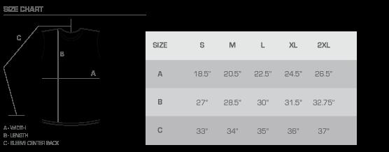 CC size chart