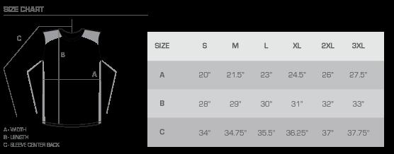 LS CB size chart