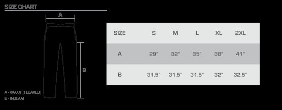 PJ size chart