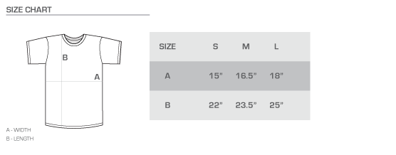 youth tee size chart
