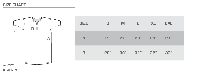 cage jacket size chart