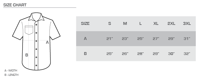 ua button down size chart