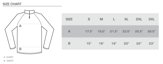 twist tech size chart
