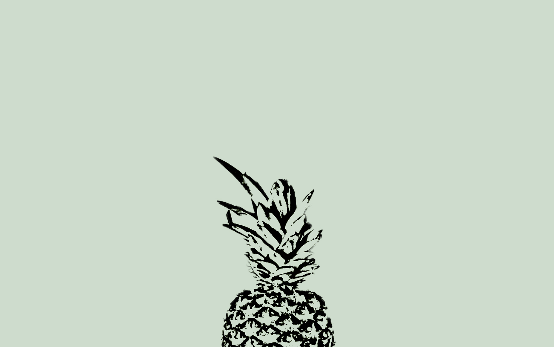 minimal pastel sage green black pineapple desktop wallpaper background background pinterest wallpaper backgrounds wallpaper and prints