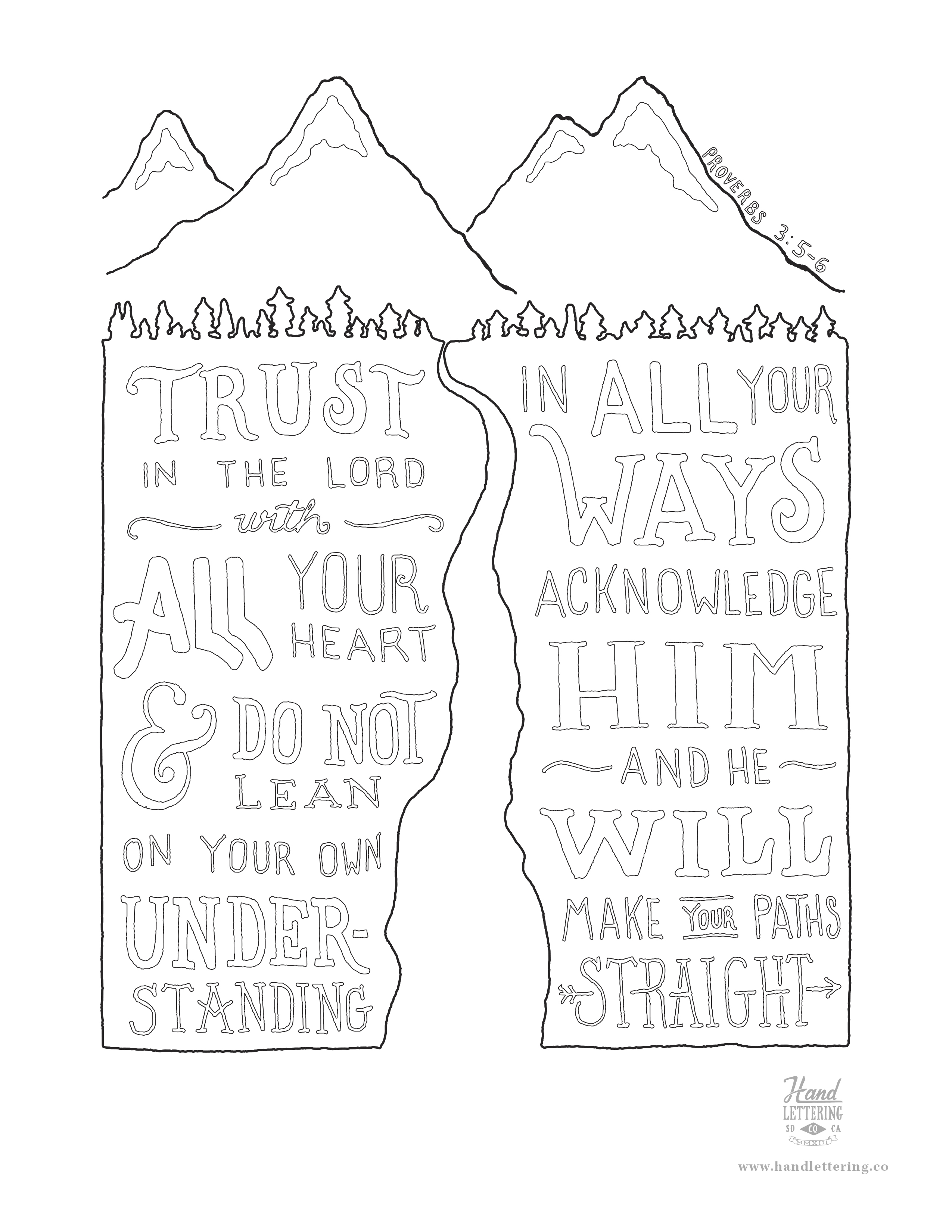 Love the lord pages coloring pages for Trust god coloring page
