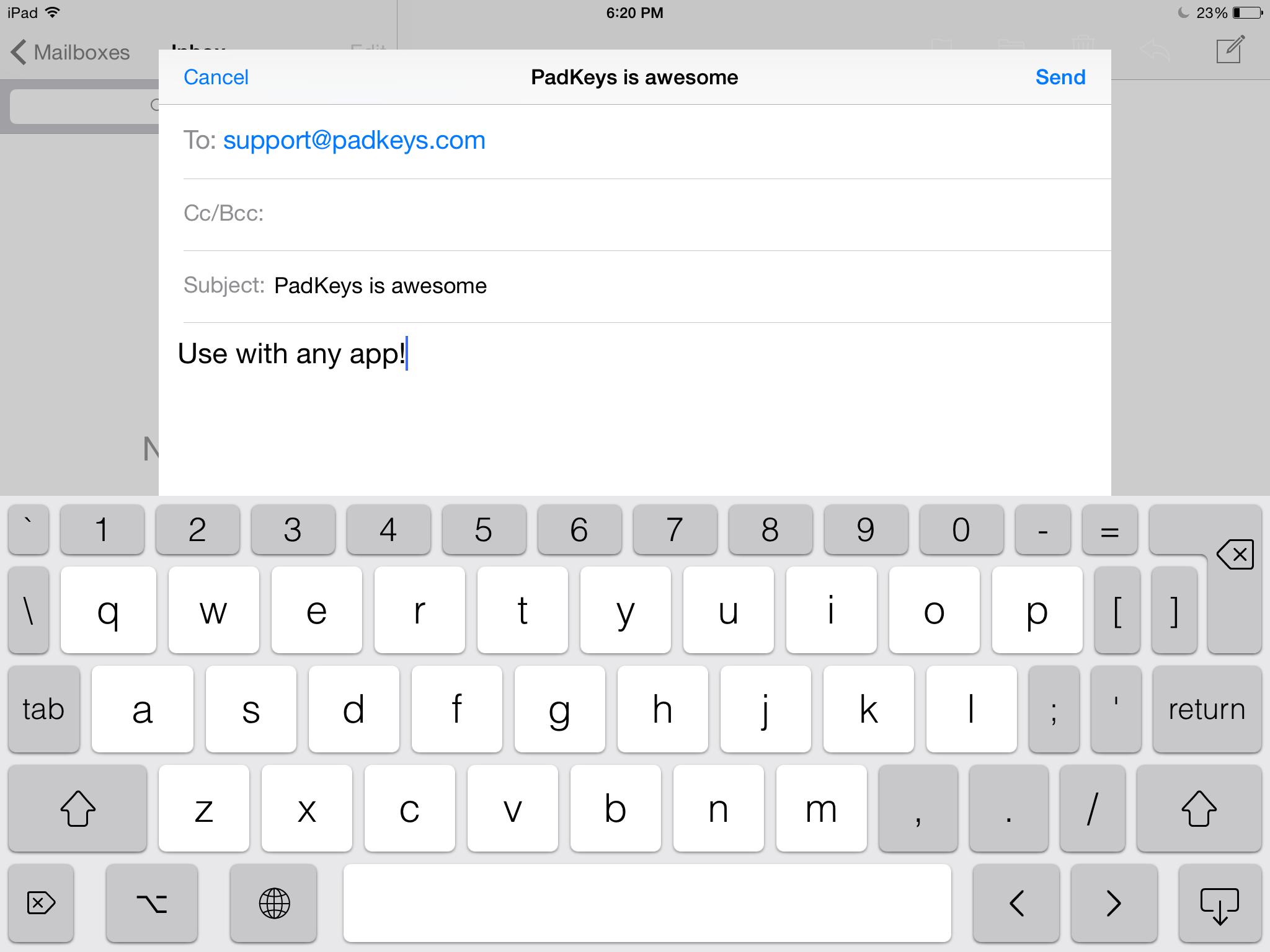 PadKeys: iOS custom keyboard designed for iPad Image