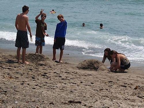 San clemente sandcastle