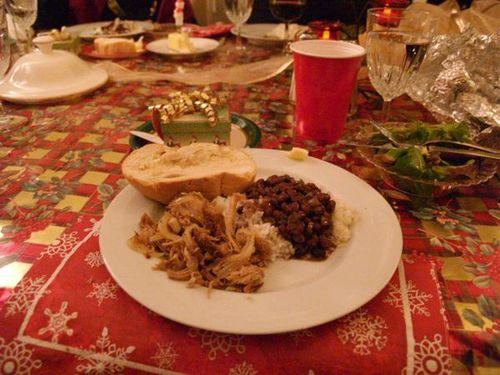 Cuban Christmas dinner