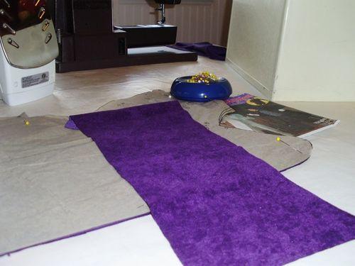 W purple fabric