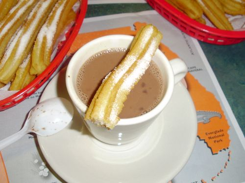 Hot Chocolate with Churro on top