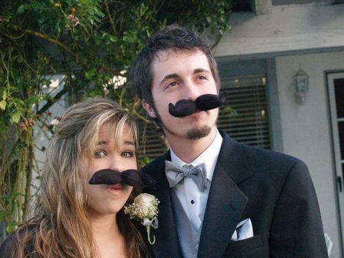 Lucy & matt mustaches