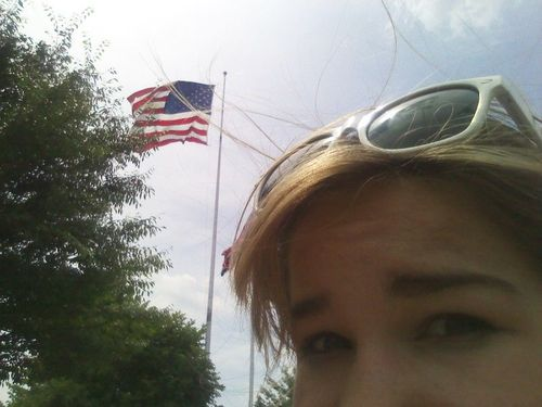 Lucy & flag