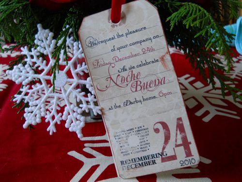 Nochebuena invitation 2010