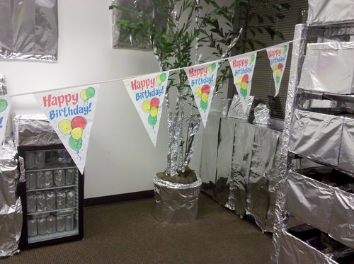 Foiled tree and sodas