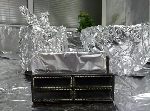 Foiled desk set