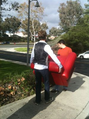 Card red chair