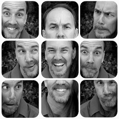 Dad face collage