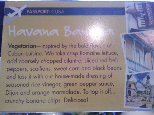 Havana banana salad description