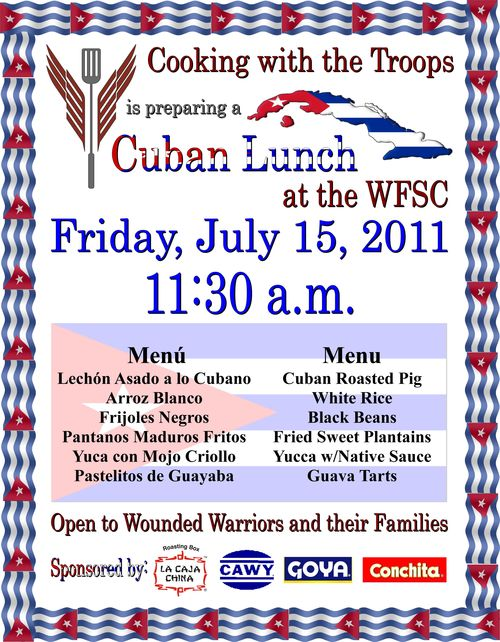 110715 Cuban Lunch by Cooking with the Troops