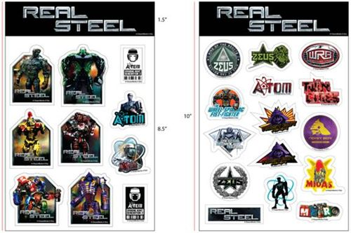 Real steel stickers