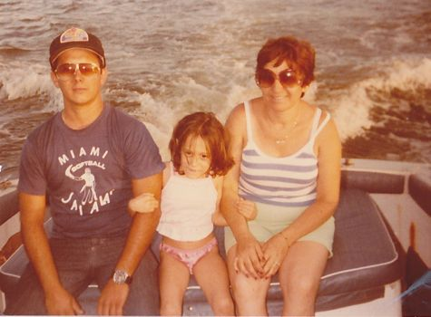 My dad, me, and mom in Miami