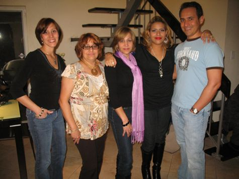 Me, Mireya, Miriam, Miriam's daughter,Diana, and Ruben 2009