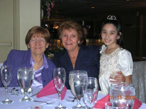 Mami, Tia Cristina, and my daughter, Ruby