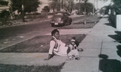 My brother with his nanny