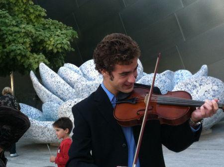 Jon on violin