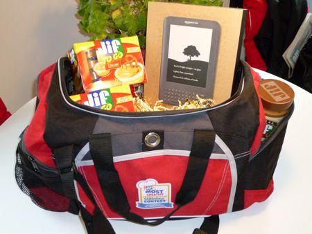 Jif Gym Bag & Kindle