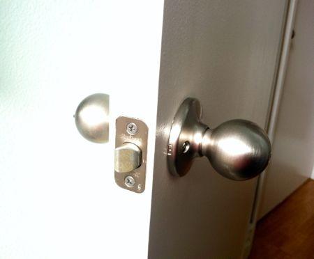 New doorknobs
