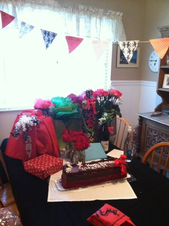 Gifts & cake