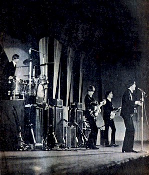 The beatles onstage at the hollywood bowl