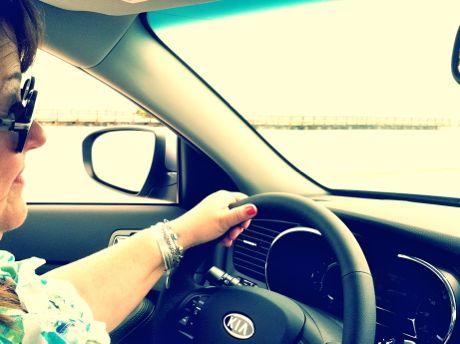 Driving Kia Optima