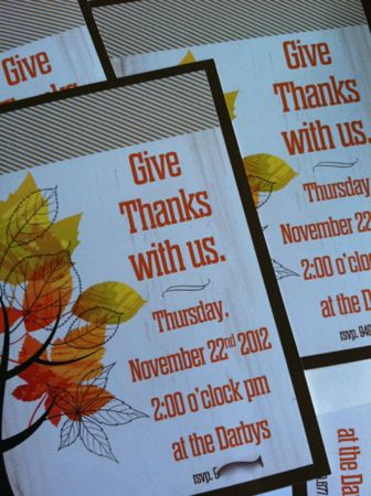 Thanksgiving invites