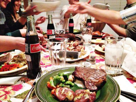 Darby family dinner