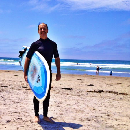 Eric surfing