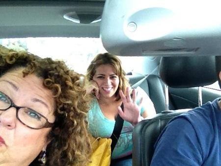 Christy in car