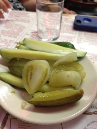 Katz pickles & tomatoes
