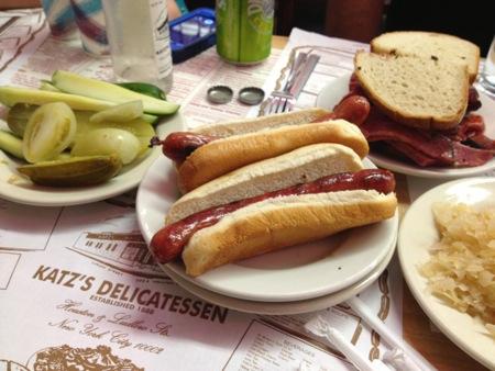 Katz hot dogs