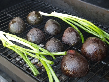 Avocado on the grill