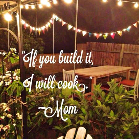 If you build I will cook