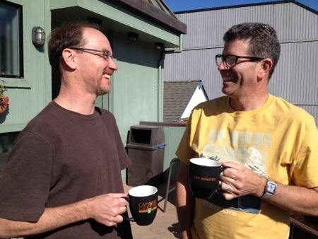 Eric and Gene with coffee