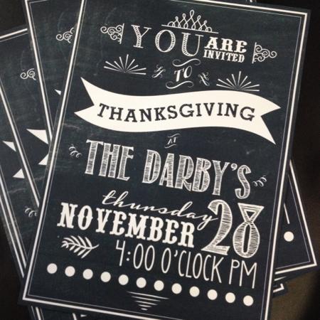 Darby Thanksgiving invitations 2013