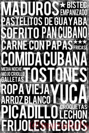 Cuban poster: Comida cubana subway art