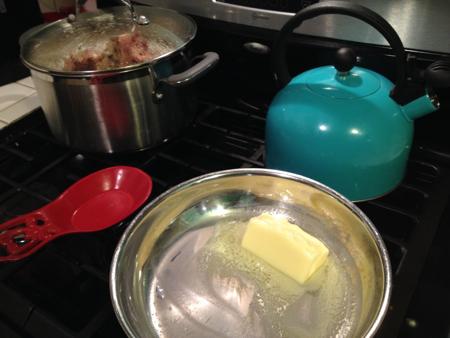 Potato soup melt butter