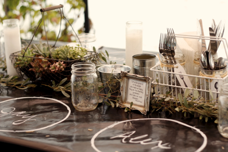 Succulents & silverware