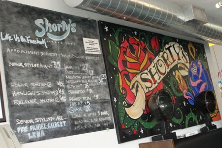Shortys menu in la